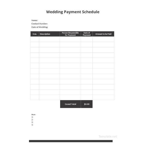 wedding-payment-schedule-template
