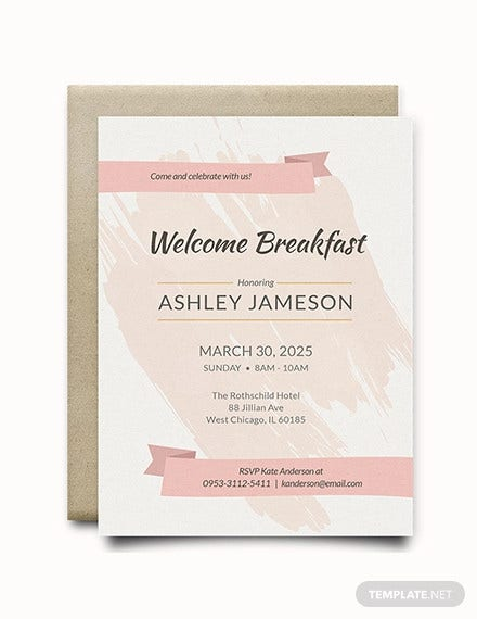 welcome breakfast rsvp invitation