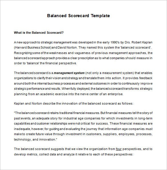 Balanced scorecard template 13 free word excel pdf documents what is balanced score card template download pronofoot35fo Images
