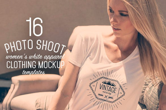 white apparel psd t shirt mockup templates