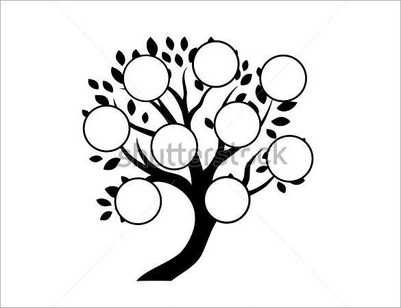 white background editable family tree