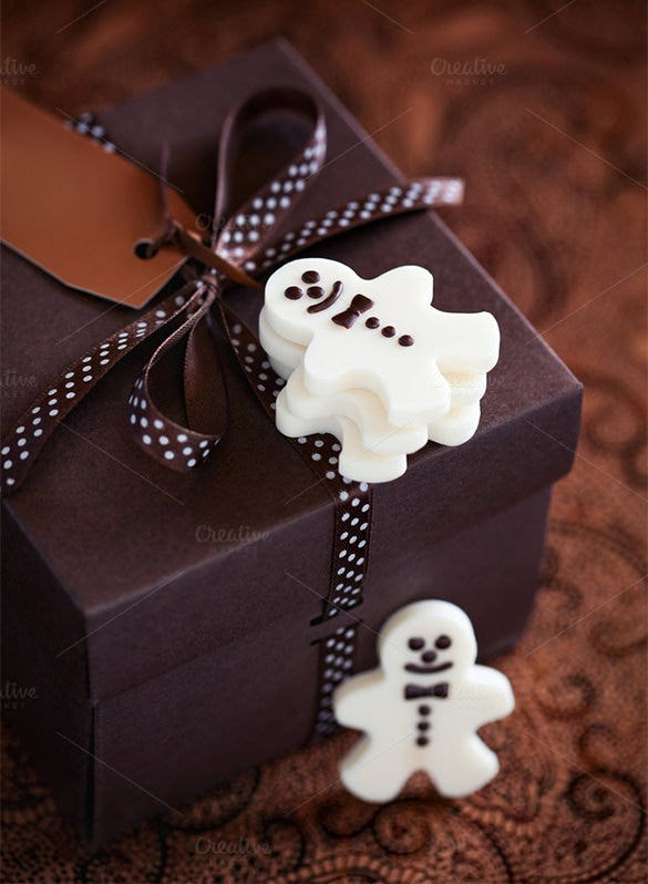 white chocolate candy box