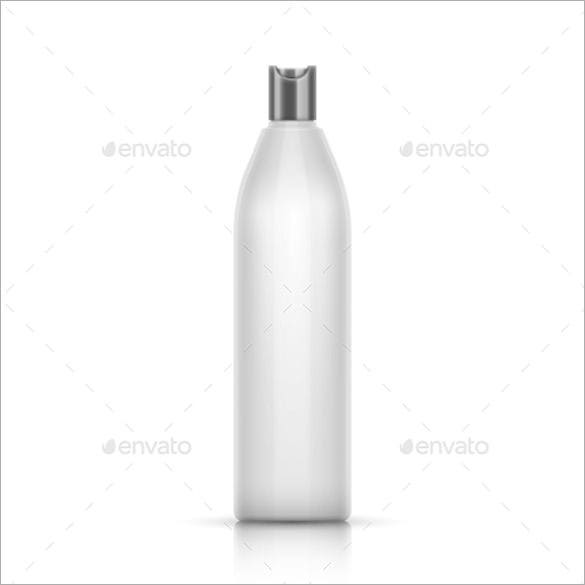 white plastic water container template