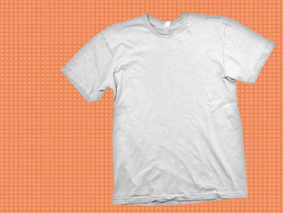 white t shirt template psd