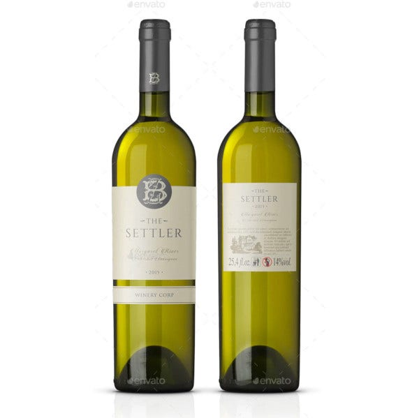 white wine label vector template1