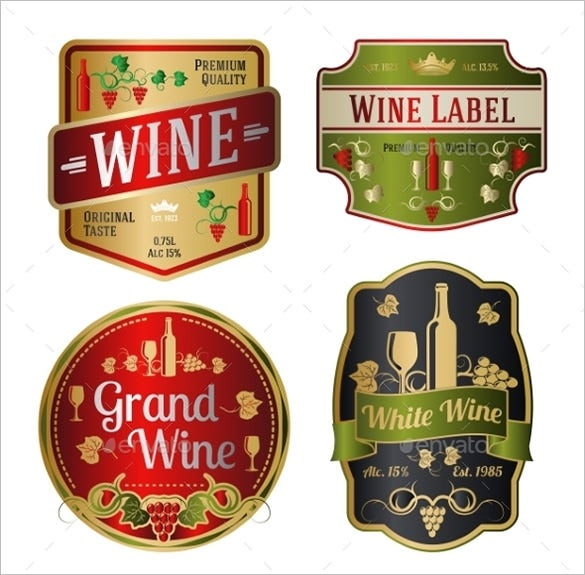 wine bottle label template 5