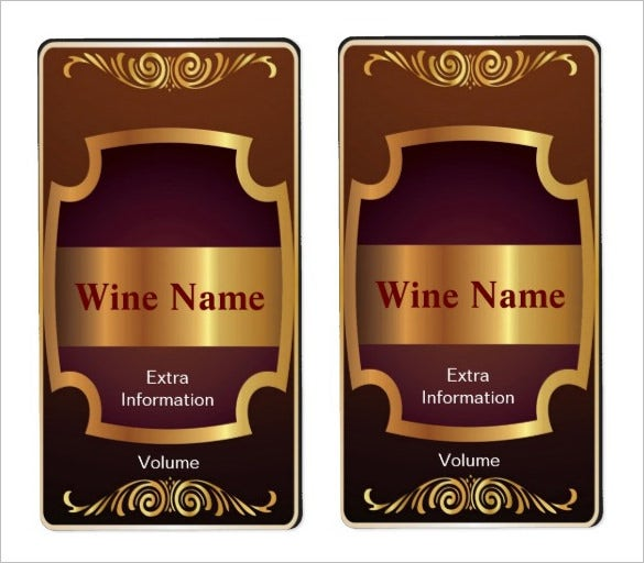wine label template  Wine Label Template - 36  Free PSD, EPS, AI, Illustrator Format ...