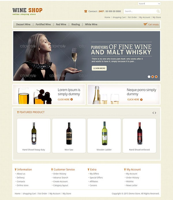 wine shop responsive virtuemart template