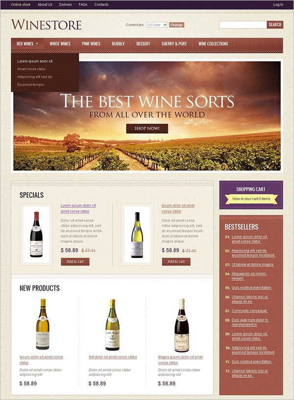 winery virtuemart templates themes free premium free