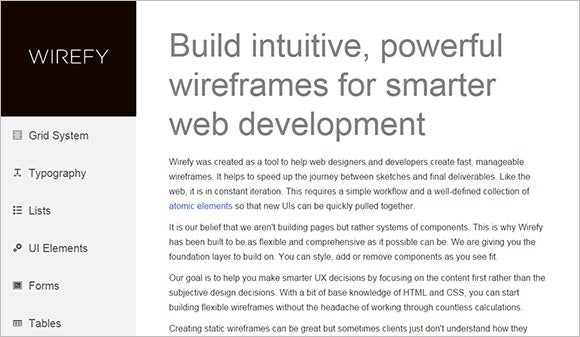 wirefy web designer tool