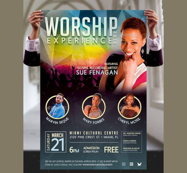 worship concert poster template