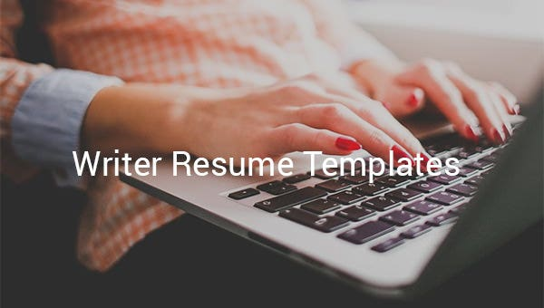 writer resume templates