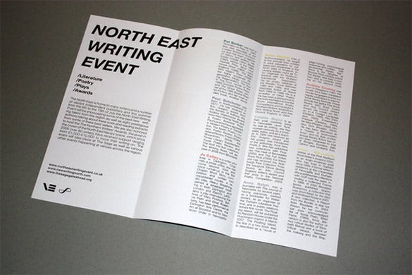 writing event brochure template
