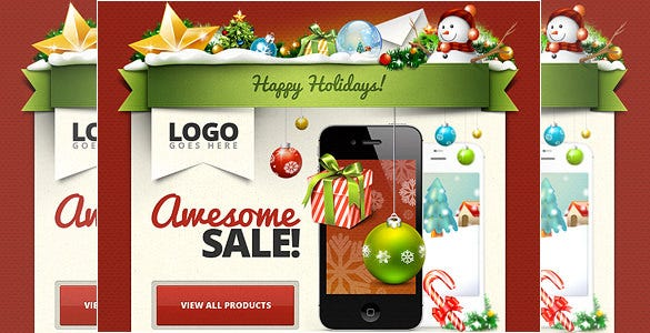 xmas free email psd template