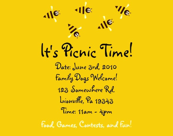 14   amazing picnic flyer templates in word  psd  publisher