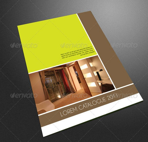 Yellow Colour Furniture Catalogue Design. PSD Catalogue Template   53  PSD  Illustrator  EPS  Indesign