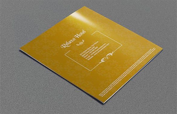 yellow hotel and motel brochure template
