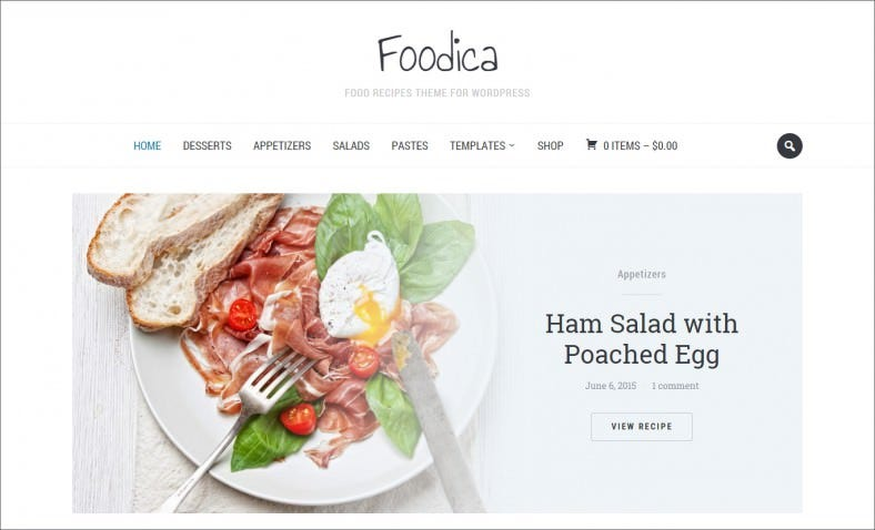 Zoom Framework Food Related Wp Theme