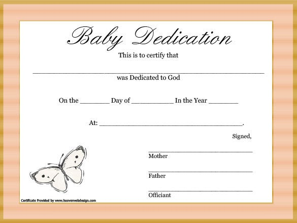 Baby dedication certificate template 21 free word pdf documents baby dedication certificate template free yadclub