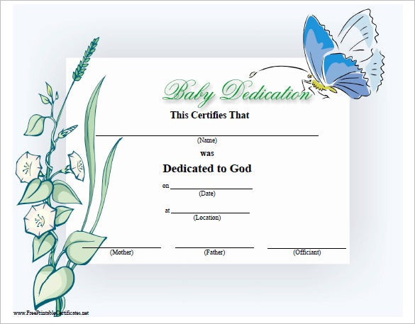 Baby dedication certificate template 21 free word pdf documents free baby dedication certificate download yadclub Image collections