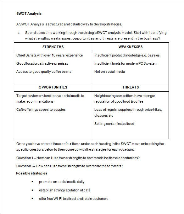 Business Action Plan Template 10 Free Sample Example Format – Business Plan Format