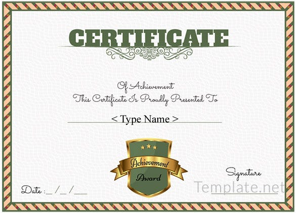 Free Certificate Template – 65+ Adobe Illustrator Documents