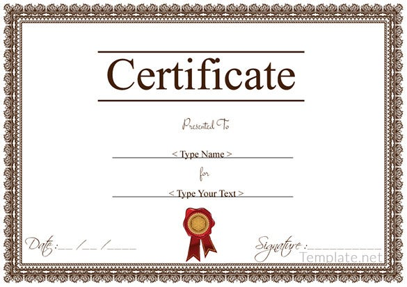 Free Certificate Templates Download