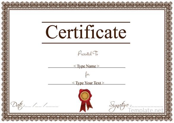 Certificate Ai Template