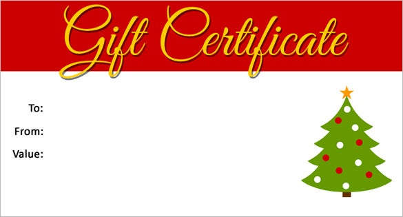 Perfect Christmas Gift Certificate Template Free On Christmas Gift Card Template
