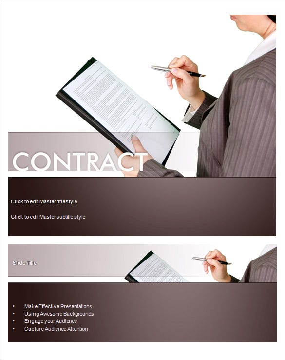 contract powerpoint template