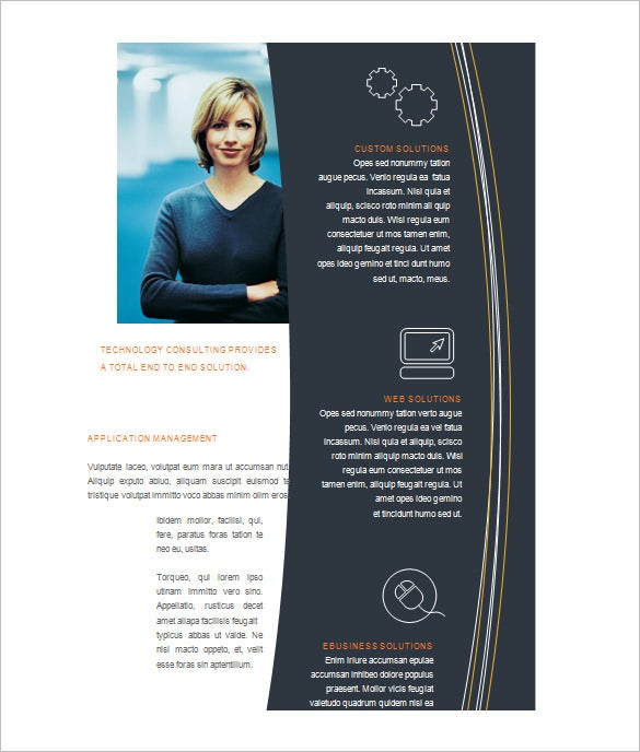 brochure template free word