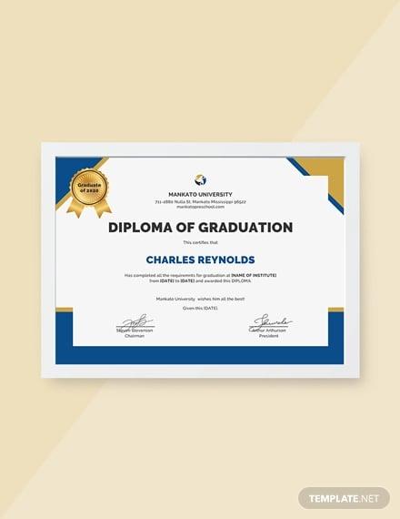 free diploma of graduation