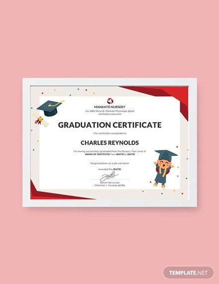 free nursery graduation