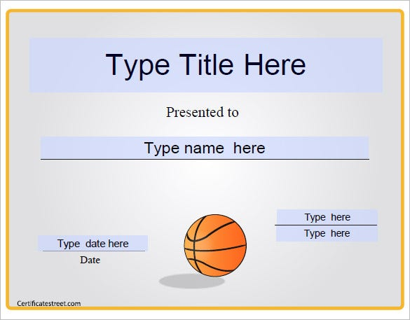 14 basketball certificate templates psd free for Basketball mvp certificate template