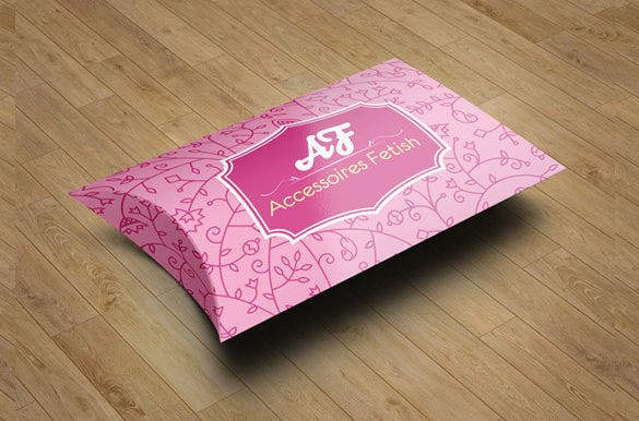free printable pillow box template