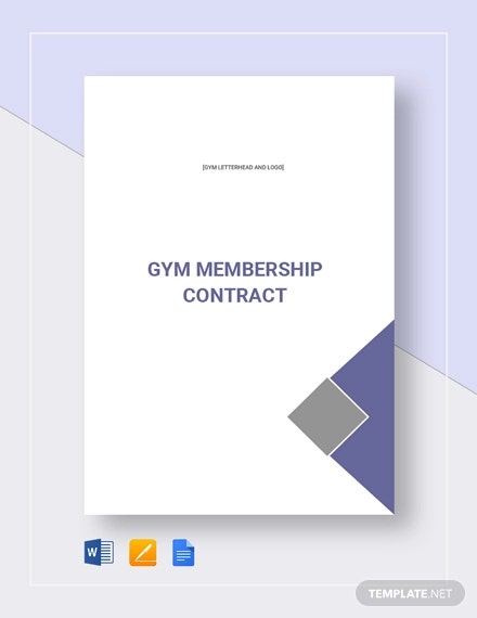 15 Gym Contract Templates Word Docs Pages Free Premium