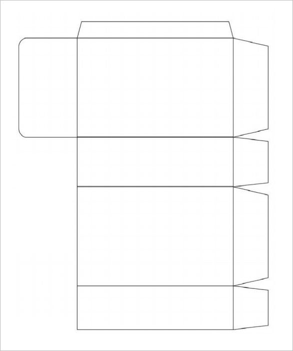 Rectangle gift box template
