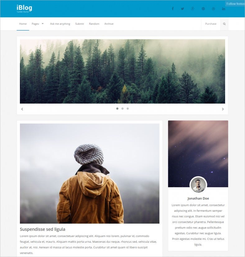 Full Width & Boxed Layout Responsive Blog Theme