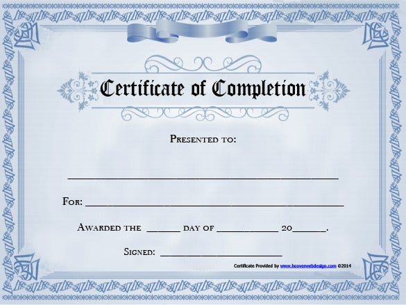 Free certificate completion template completion certificate template 15 free word pdf documents download altavistaventures