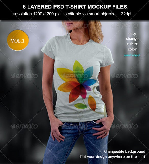 layered psd t shirt mockup template