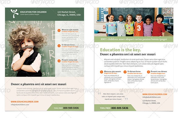 learning center flyer template
