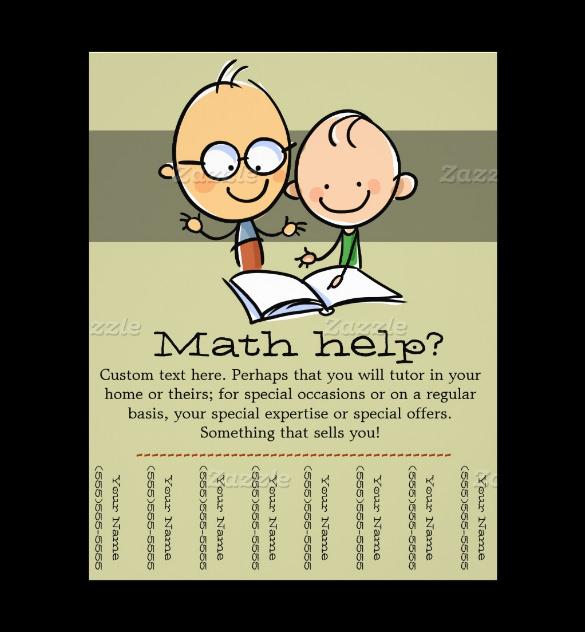 math tutor flyer template - Dorit.mercatodos.co