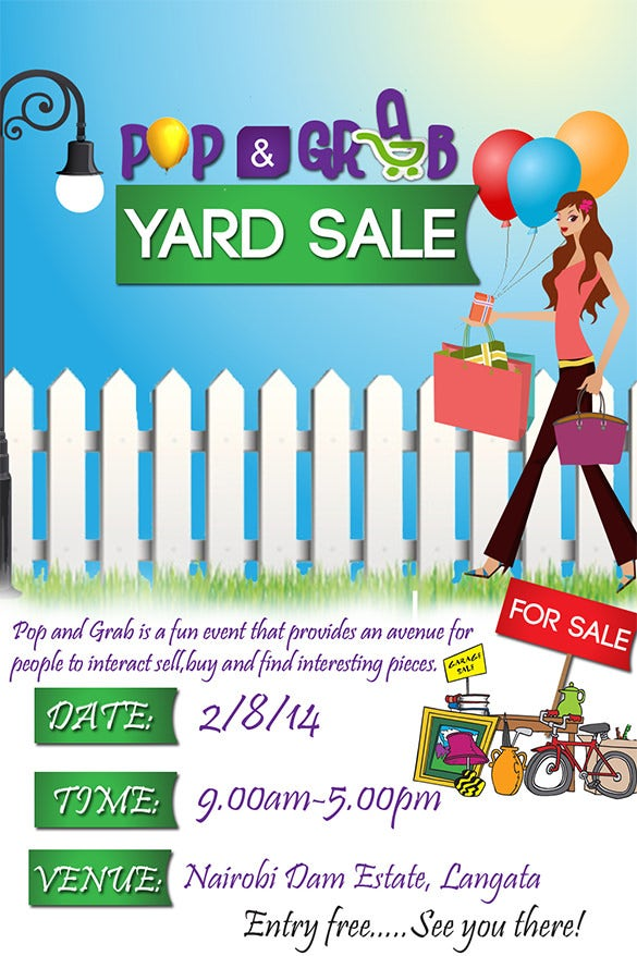 21  best yard sale flyer templates  u0026 psd  word  eps