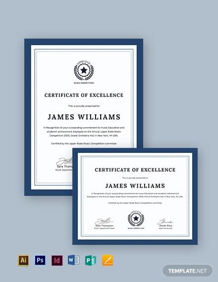 music certificate