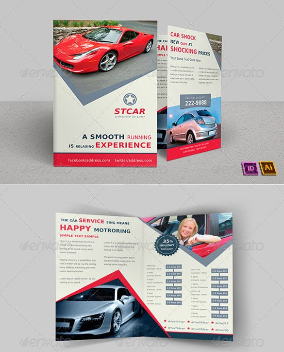 old car bi fold brochure