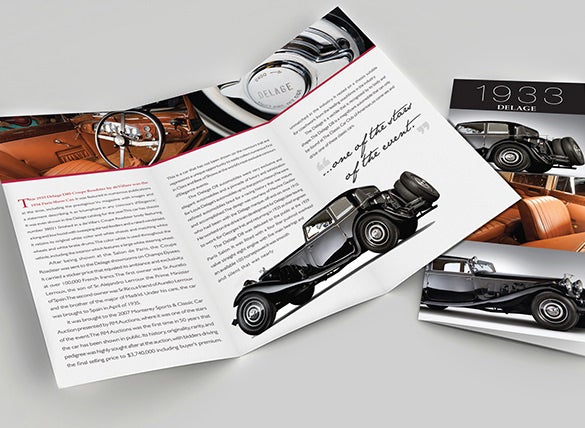 18 old car brochures free word pdf psd eps indesign for Automobile brochure design