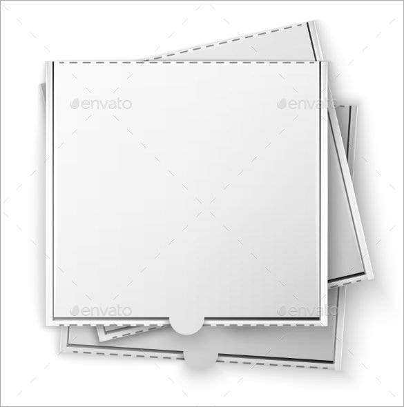 pizza box template vector