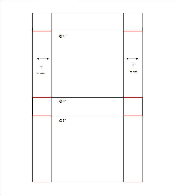 pizza box template free