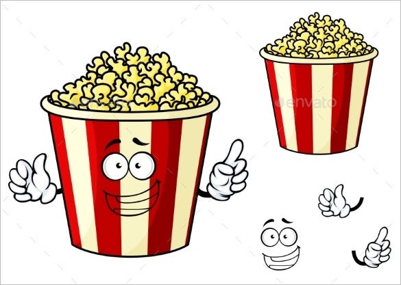 Popcorn bucket outline images for Popcorn container template
