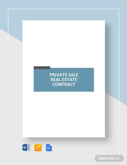 private sale reale estate